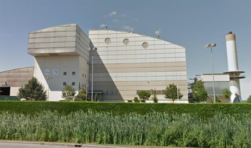 The EfW plant, image copyright Google
