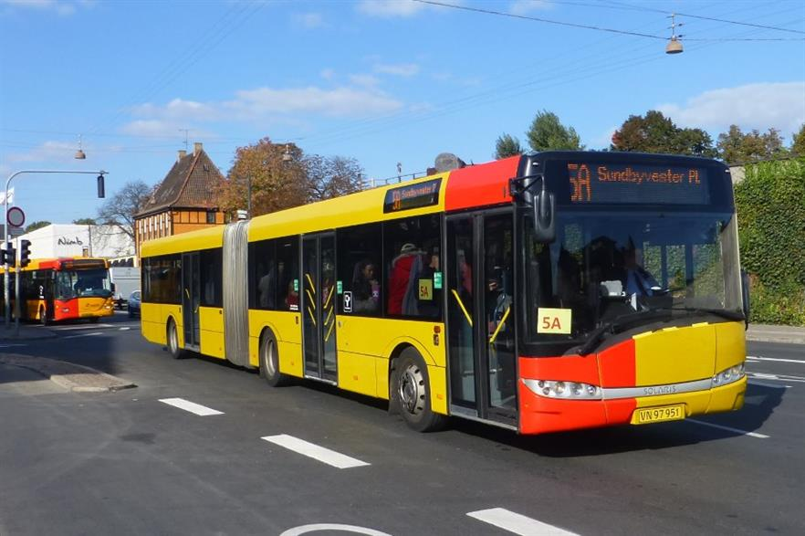 Buses on line 5A will switch to biogas in 2017 Credit: CC BY-SA 3.0 Leif Jørgensen