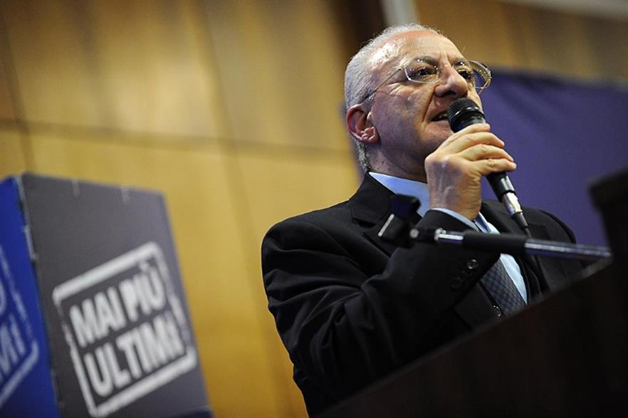 Vincenzo De Luca has pledged to resolve Campania's waste problems
