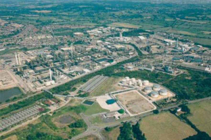 Dow Corning's chemical works in Barry