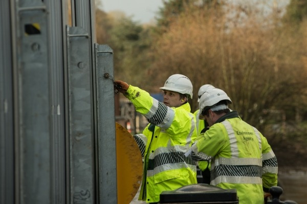 Environment Agency staff at work, image copyright EA
