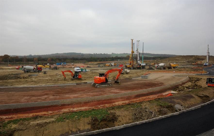 Construction is underway at the Greatmoor energy-from-waste plant near Aylesbury