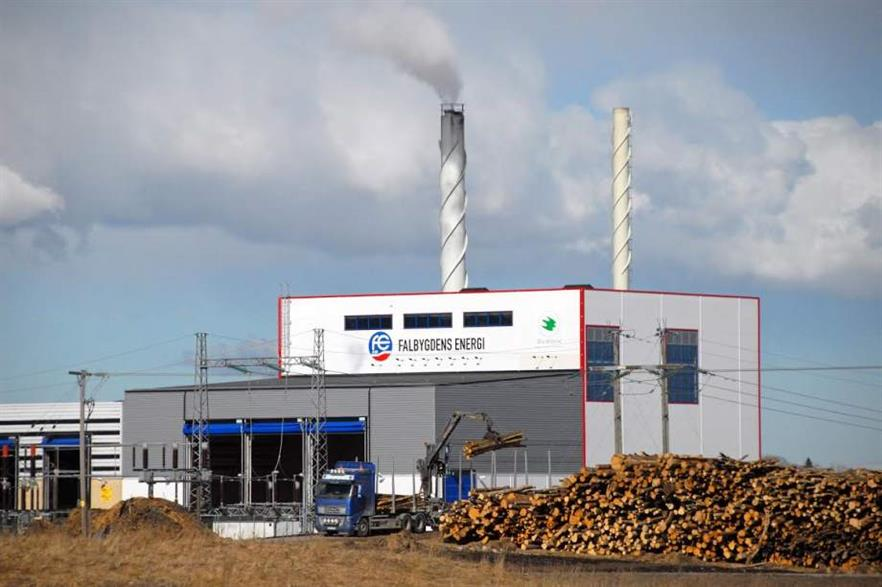 Saxlund also supplied equipment for this biomass CHP plant in Falköping, Sweden