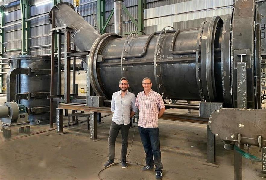 Alex Mas, Sugimat's business development director and Simon Webb managing director of Tidy Planet