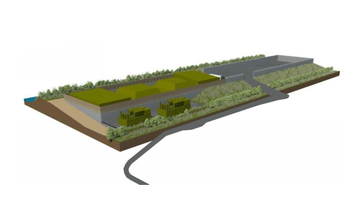 """Plant's """"plug flow"""" process means its buildings are lower than other biogas plants"""