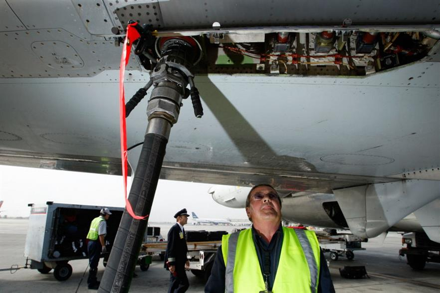 Airliners may have to fly on more sustainable fuel. Photograph: Justin Sullivan/Getty Images