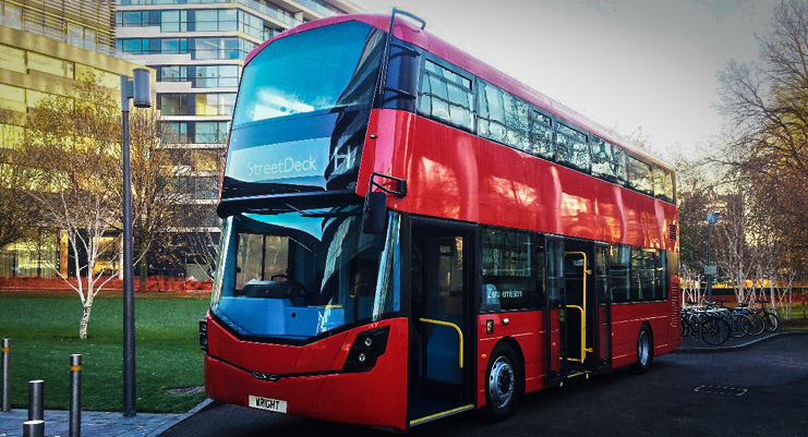 Wrightbus' new hydrogen fuel cell powered bus on show in London