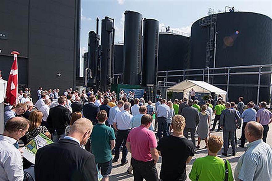 Energy minister Lars Christian Lilleholt spoke at the inauguration