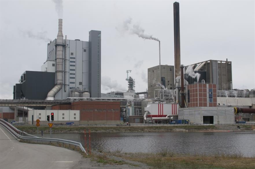 Holmen's cardboard factory in Iggesund
