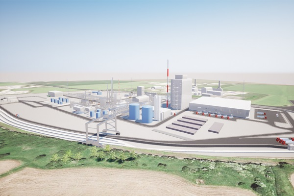 An artist's impression of the company's UK-based production facility