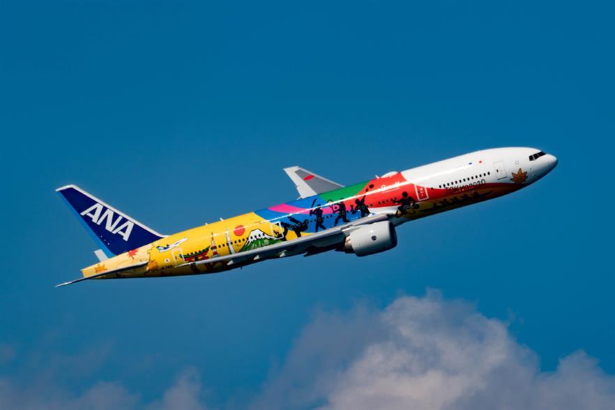 All Nippon Airways flights from two Japanese airports will soon run partly on biofuel. Photograph: Masahiro Takagi/Wikimedia Commons