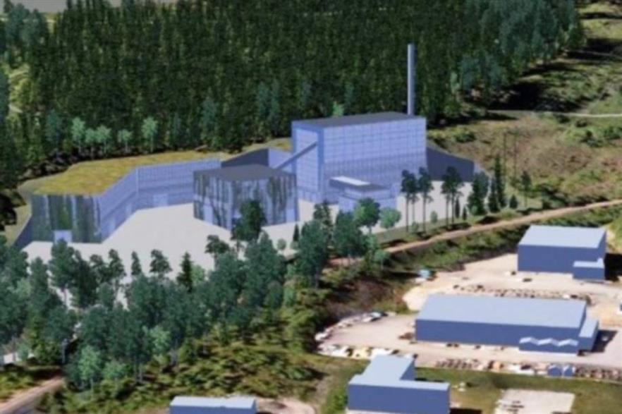 A computer image of Eidsiva's Kalderudlia facility