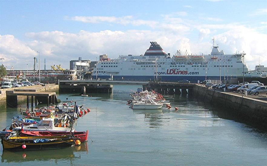 Le Harve is a busy commercial port