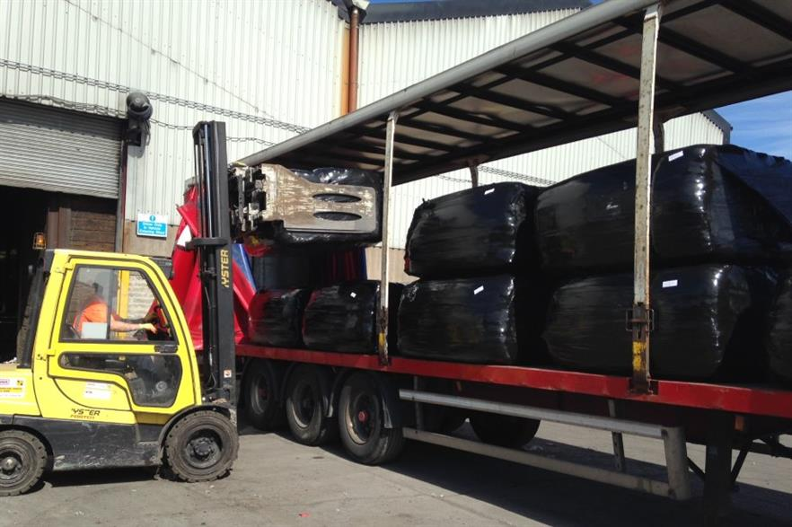 RDF being loaded for export. Credit: Natural World Products