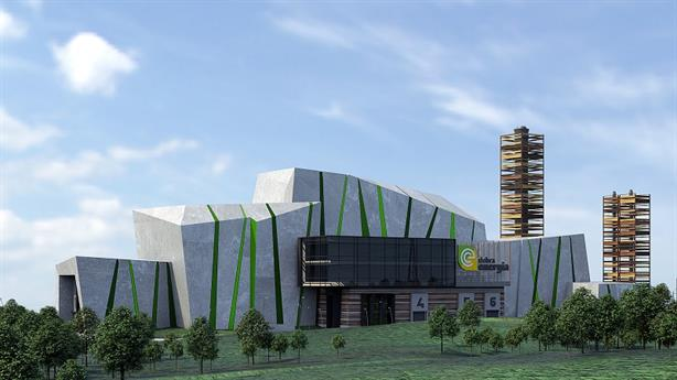 An artist's impression of the EfW facility, which was previously being developed