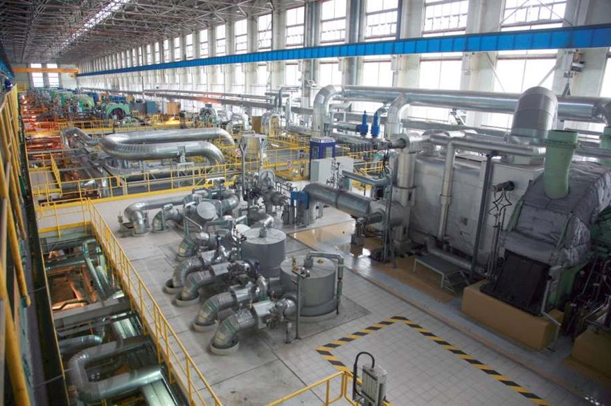 The turbine room in PGNiG's Zeran CHP plant