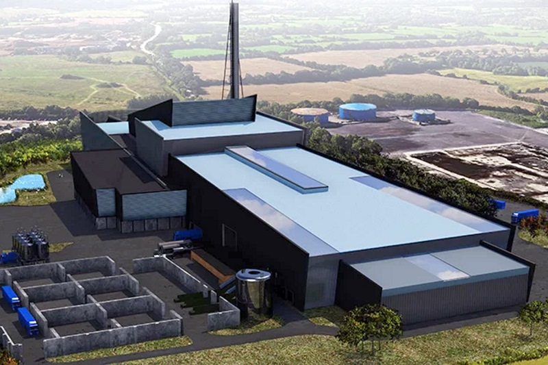 The planned plastic recycling plant. Image: Pennon Group