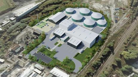 An artist's impression of the facility under construction in the UK