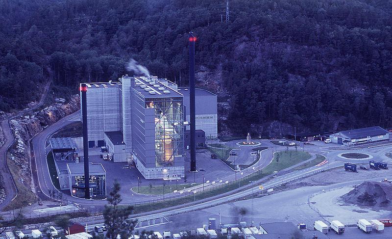 Returkraft's energy recovery plant in Langemyr