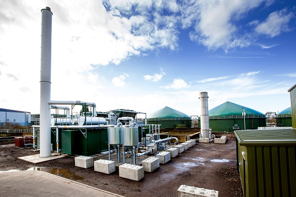 Severn Trent's Coleshill food waste-processing biogas plant