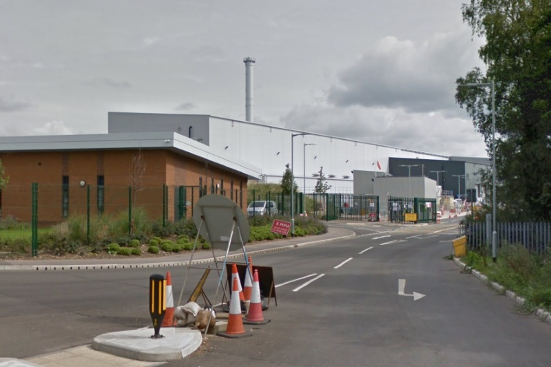 The Derby and Derbyshire Waste Treatment Centre remains uncommissioned. Photograph: Google