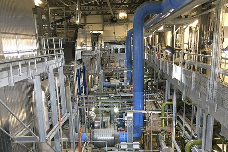 Inside Derby's long-delayed gasification plant. Photograph: RRS