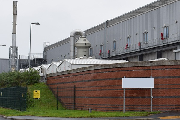 The plant on the Sowerby Woods Industrial Estate, image Environment Agency