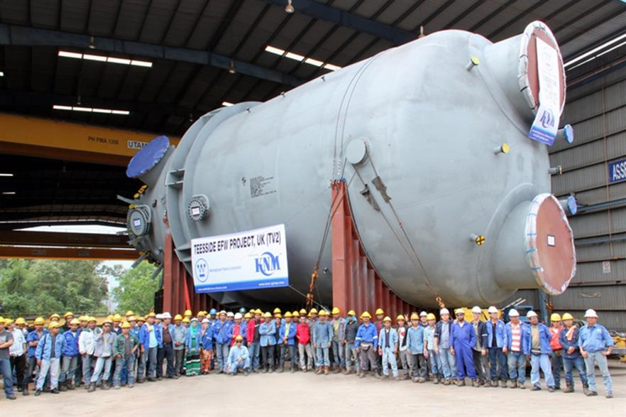 The TV2 gasifier, ready to ship