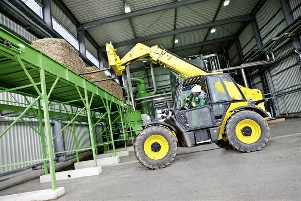 Straw processed at Verbio's plant in Schwedt