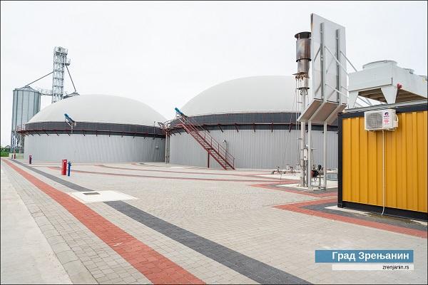 The biogas plant, image copyright the municipality of Zrenjanin