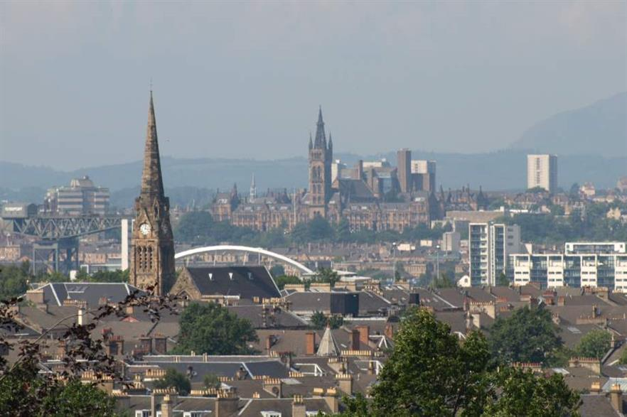 A view of Glasgow city centre. Credit: CC-BY-2.0 John Lindie