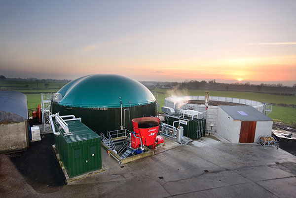 One of the company's biogas plants