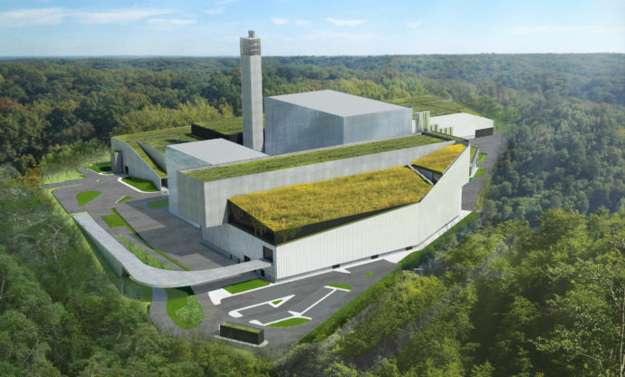 Artist's impression of the EkoImpuls plant planned for Warsaw