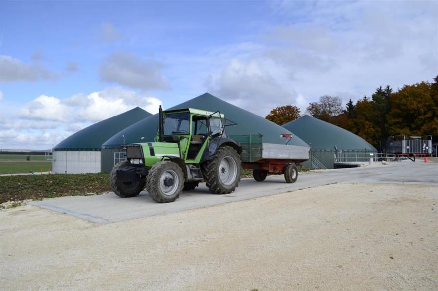 A biogas plant in Gussenstadt, Baden-Württemberg