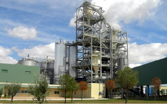 Ethanol production plant made from biomass, in Babilafuente, Salamanca. It is the first commercial-scale demonstration plant in the world.