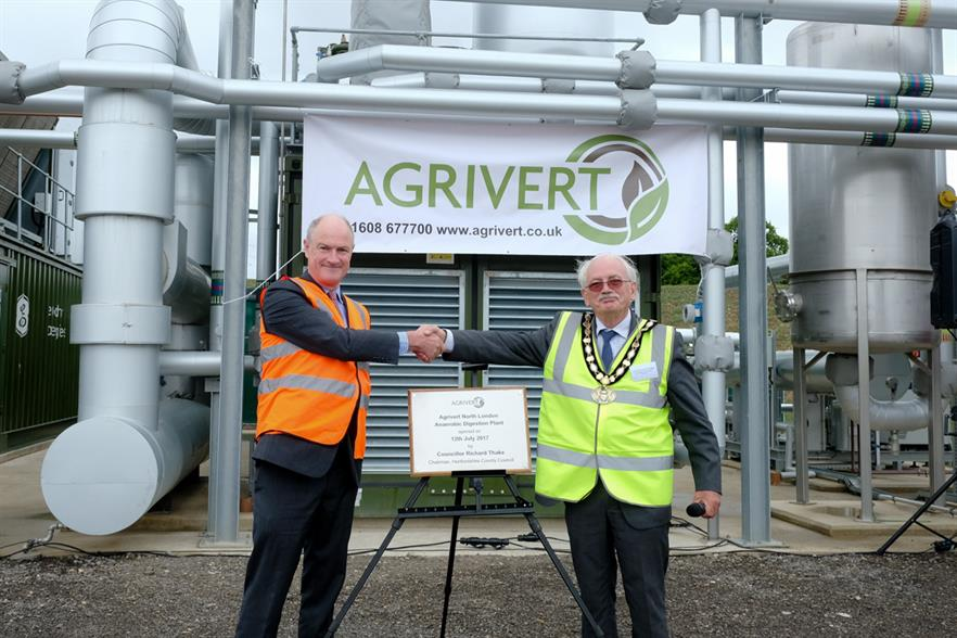 Agrivert's fifth biogas plant in London Colney