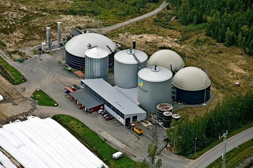 Another biogas plant owned by Gasum, image copyright Gasum