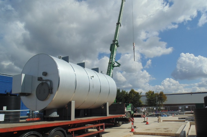The boiler is ready to installed at APP's waste gasification plant photo advancedplasmapower.com