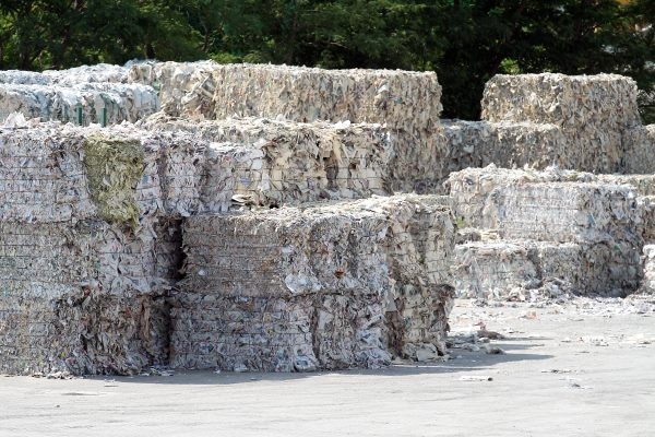 Paper waste is part of the boiler's feedstock