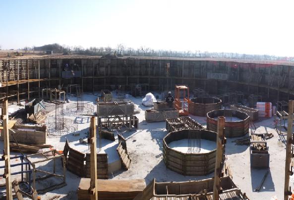 An under-construction German biogas plant