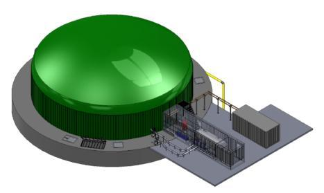 An artist's impression of Biogas Plus facility