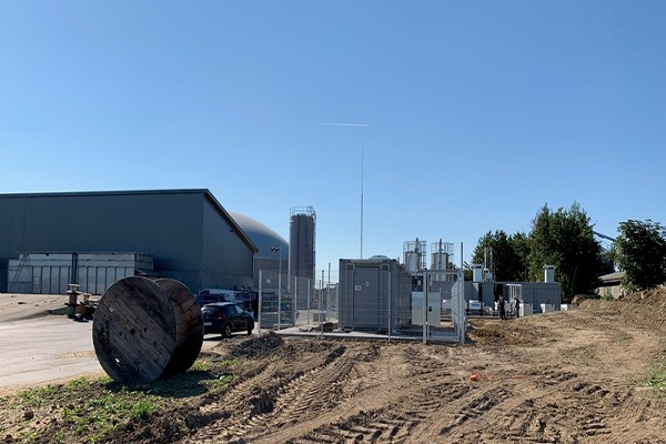 An unrelated biogas plant