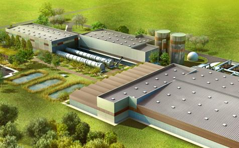 An artist's impression of the SMET 71 waste-to-biogas plant
