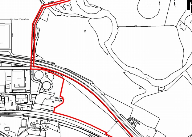 A planning drawing submitted with the application