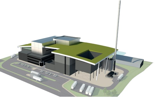 An artist's impression of one of two possible designs for facility. Image Curvilinear
