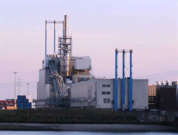 The sewage incineration plant