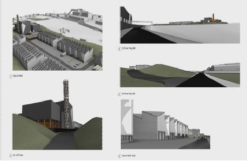 An series of artist's impression of the facility