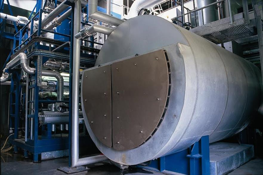 The plant's boiler