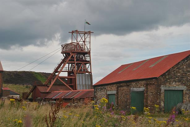 A former coal mine in Wales
