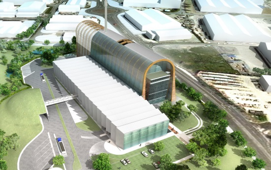 An artist's impression of the Cross Green Recycling and Energy Recovery Facility